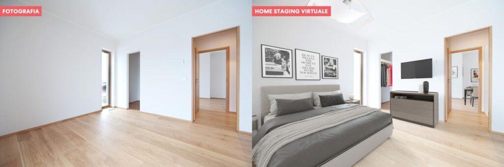 Confronto fotografia e home staging virtuale