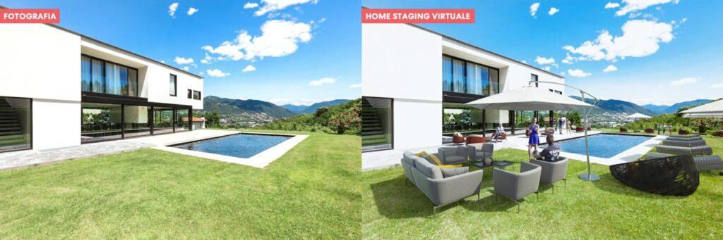 Virtual home staging di un giardino
