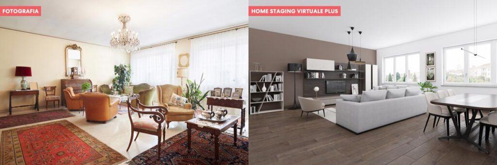 Virtual home staging di un salotto